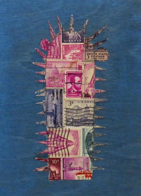 , 'Stamp Cactus Purple,' 2017, Joshua Tree Art Gallery