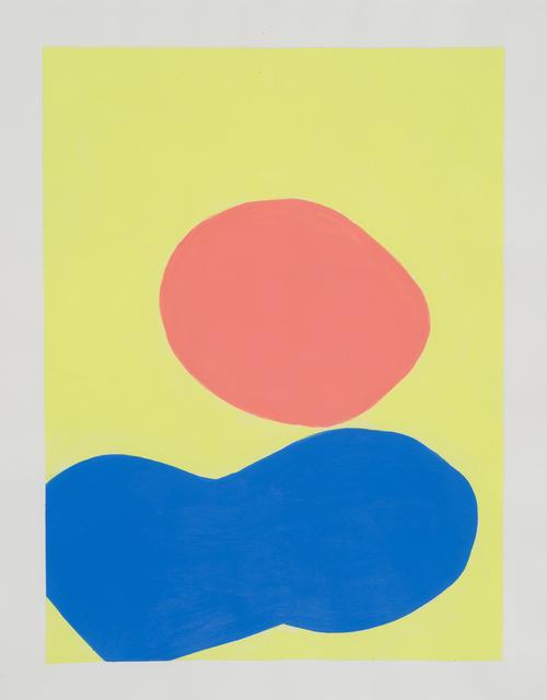 , '1979 (jaune, orange & bleu),' 2017, Galerie Antoine Ertaskiran