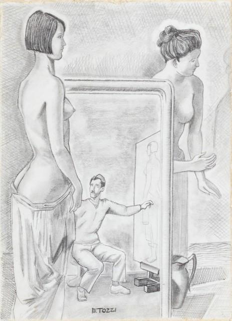 """Mario Tozzi, 'Studio per il dipinto """"L'Officina dei Sogni""""', 1929, Finarte"""