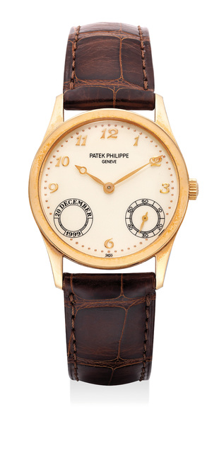 Patek Philippe, 'A fine and extremely rare pink gold automatic wristwatch with Breguet numerals. Part of a limited edition of 30 pieces', 1999, Phillips