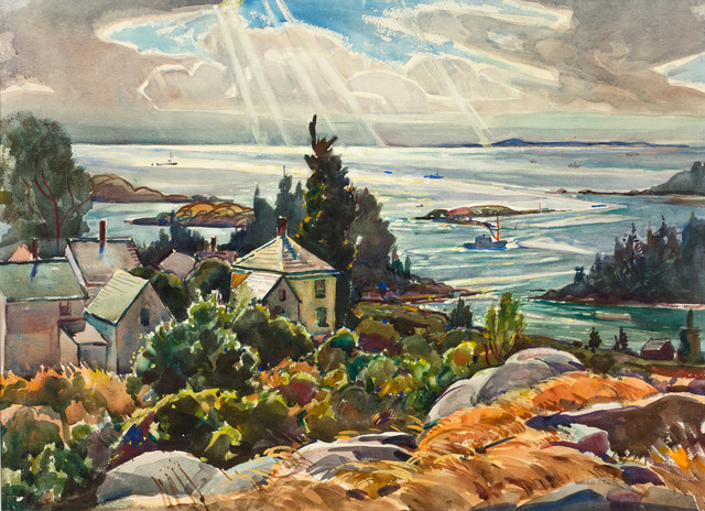 William Lester Stevens, 'Epic of Vinalhaven, Maine', 19th -20th Century, Drawing, Collage or other Work on Paper, Watercolor on paper, Vose Galleries