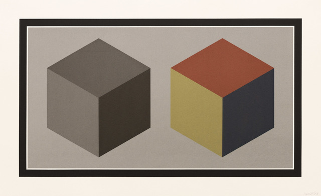 , 'Double Cubes in Grays and Colors Superimposed,' 1989, Pace Prints