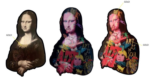 , 'Silhouette Joconde Or et Argent,' , Galerie Vivendi