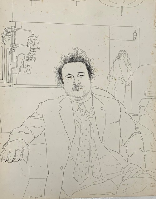 David Hockney, 'Peter Langan Seated in Odin's, 1972', 1972, Henry Saywell