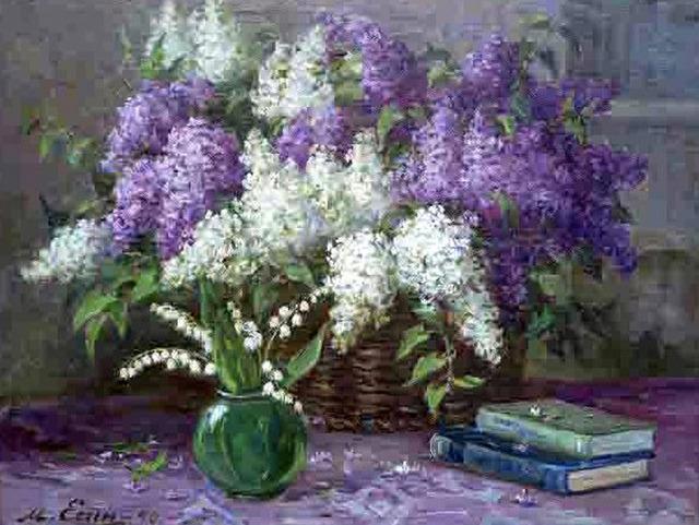 Mikhail Mitrofanovich Yesin, 'Flowers and Books', 1970, OYANU Gallery
