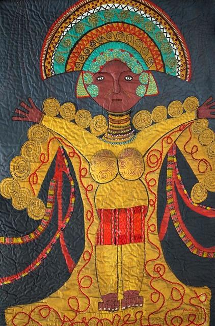 , 'Mayan mask,' 1990, Pacita Abad Art Estate