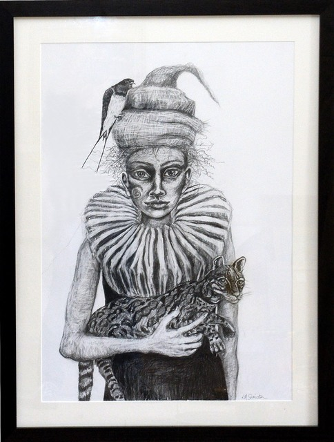 Rebecca Swainston, 'My Beloved', 2016, Drawing, Collage or other Work on Paper, Graphite on Paper, Castlegate House Gallery