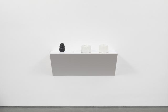 Haim Steinbach, 'Untitled (dog chew, hat molds)', 2019, Tanya Bonakdar Gallery