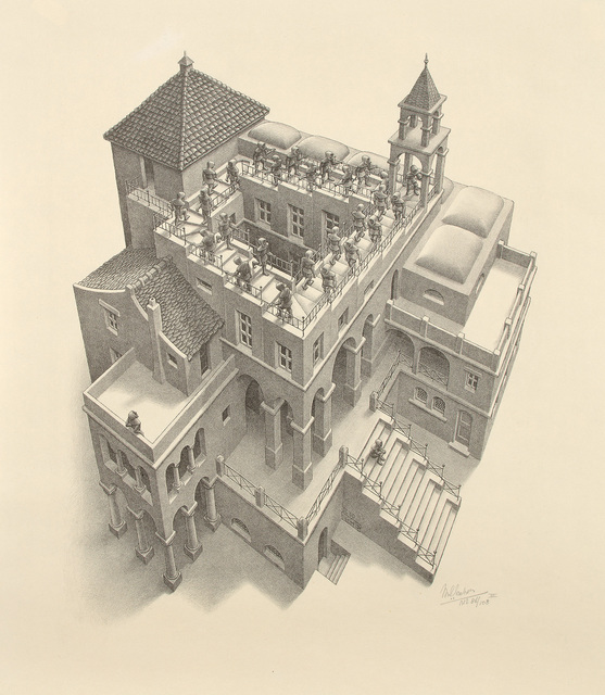 Maurits Cornelis Escher, 'Ascending and Descending', 1960, Print, Lithograph, on wove paper, with full margins., Phillips