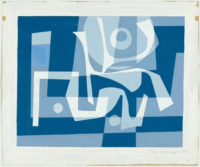 Leo Leuppi, 'Untitled', 1958, Drawing, Collage or other Work on Paper, Gouache on brown paper, Koller Auctions