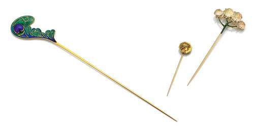 """""""Plume de Paon"""" Hat Pin"""