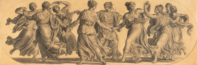 , 'Dance of the Muses (cartoon for a ceiling painting in the main hall of Palais Epstein),' 1871/1872, Belvedere Museum
