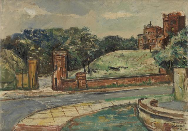 John Farrar, 'Untitled (Embassy Row).', 1947, Painting, Oil on linen canvas, Swann Auction Galleries