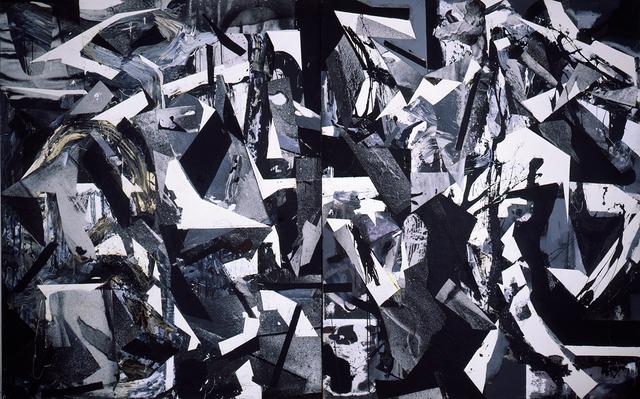 Dario Villalba, 'Espacio Barroco (Dyptichon)', 1986, Painting, Oil and collage on canvas, Galerie Michael Hasenclever