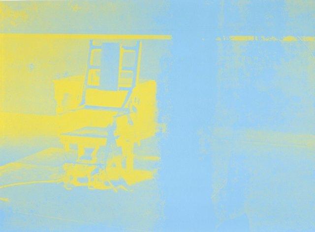 Andy Warhol, 'Electric Chair', 1971, Print, Color silkscreen on cardboard, Galerie Leu