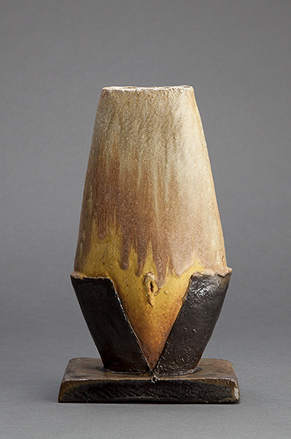 , 'Figurative vase, yellow glaze black slip with natural ash,' , Pucker Gallery