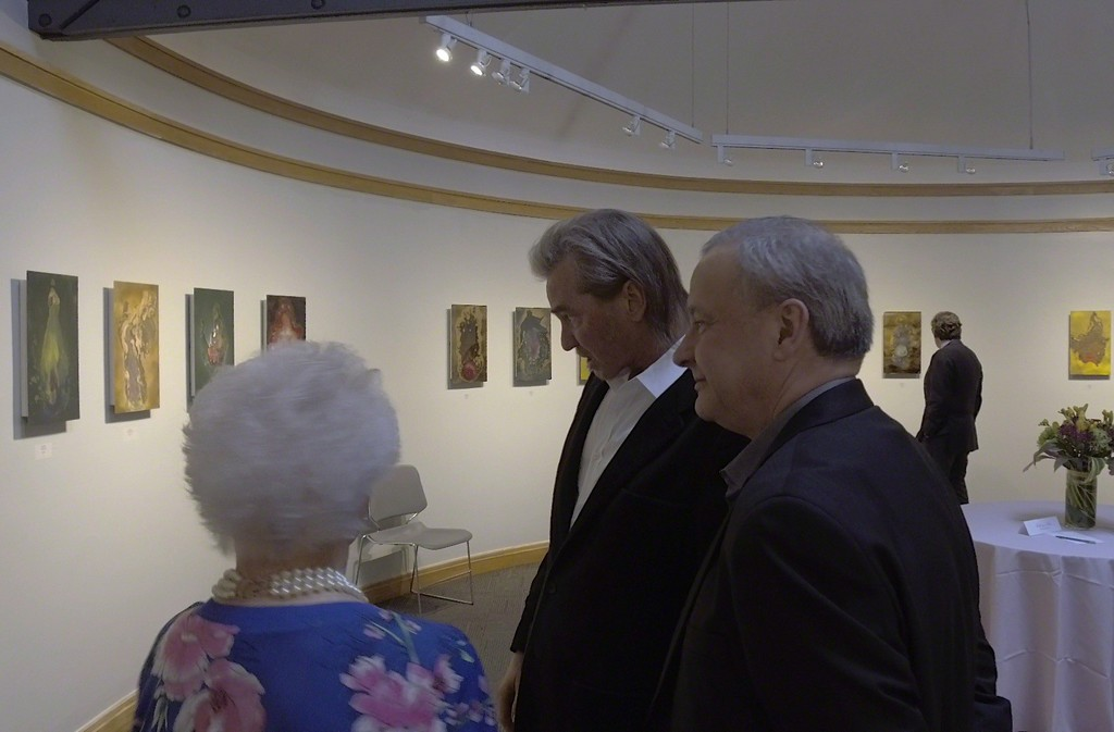 Curator John Woodward with Val Kilmer and co curator Audrey Leeds