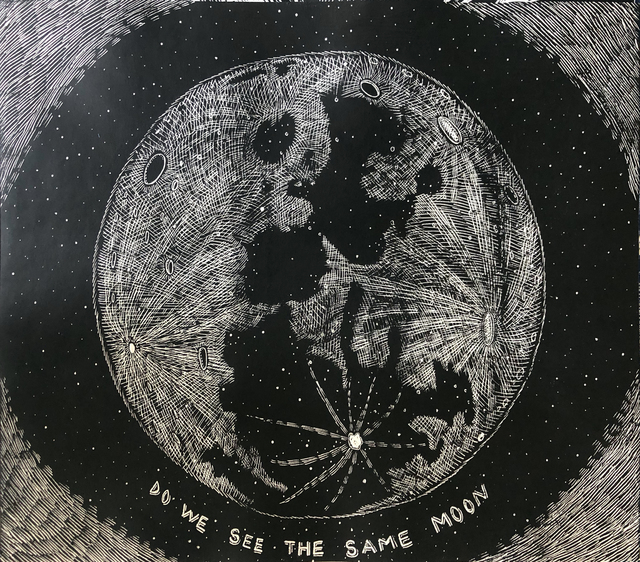, 'Do We See the Same Moon (black),' 2018, Ruiz-Healy Art