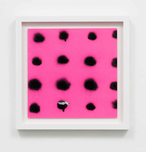 , 'Untitled (Car in black dots on pink),' 2016, Charlie James Gallery