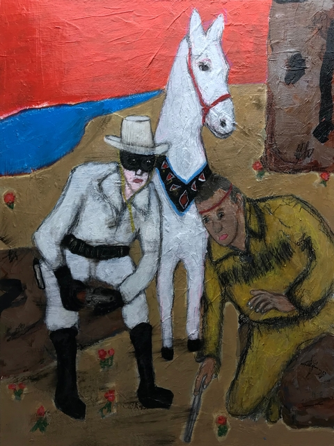 Morrison Pierce, 'Is That Your Horse?', 2020, Painting, Acrylic on panel, The Secret Gallery