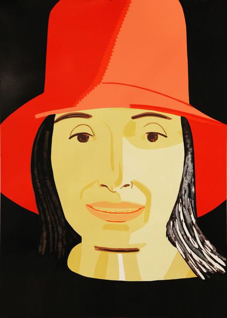 Alex Katz, 'Red Hat Ada', 2015, Frank Fluegel Gallery