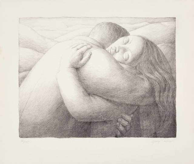 George Tooker, 'Embrace', 1982, Print, Lithograph on wove paper, Heritage Auctions