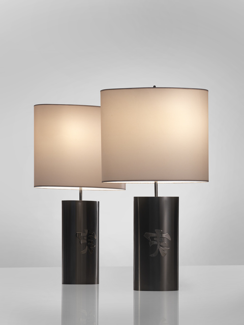 , 'Pair of Brass lamps,' 1974, Demisch Danant
