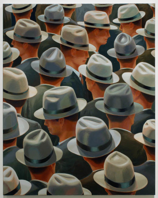 Greg Drasler, 'Green Backs', 2010, Painting, Oil on canvas, Betty Cuningham