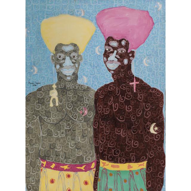 Kassou Seydou, '2 traits spirituels', 2017, PIASA