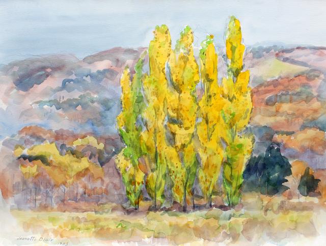 , 'Poplars in Autumn,' , Benjaman Gallery Group