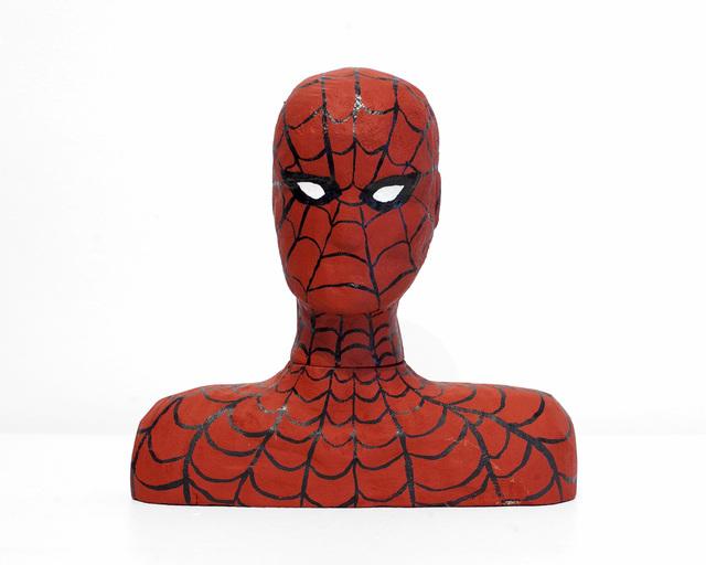 ", '""Spiderman Wood Carving"",' 2019, First Amendment"