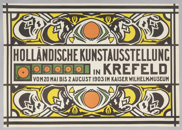 Jan (Johan) Thorn-Prikker, 'Holländische Kunstausstellung (Dutch Art Exhibition in Krefeld)', 1903, Cooper Hewitt, Smithsonian Design Museum