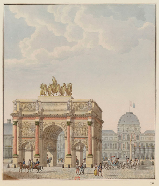 , 'Arc du Carrousel, south side view,' 1806-1815, Bard Graduate Center Gallery