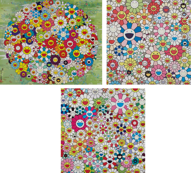 Takashi Murakami, 'Maiden in the Yellow Straw Hat; Open your Hands Wide; and Such Cute Flowers', 2010, Phillips