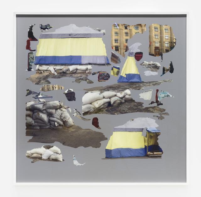 Hito Steyerl, 'Tent/Texture II, Kharkiv', 2015, Print, UV pigment print on dibond, Andrew Kreps
