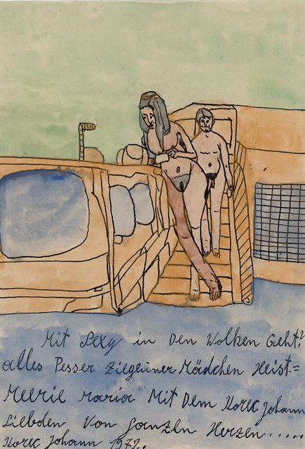 , 'With Sexy into the clouds,' 1972, christian berst art brut