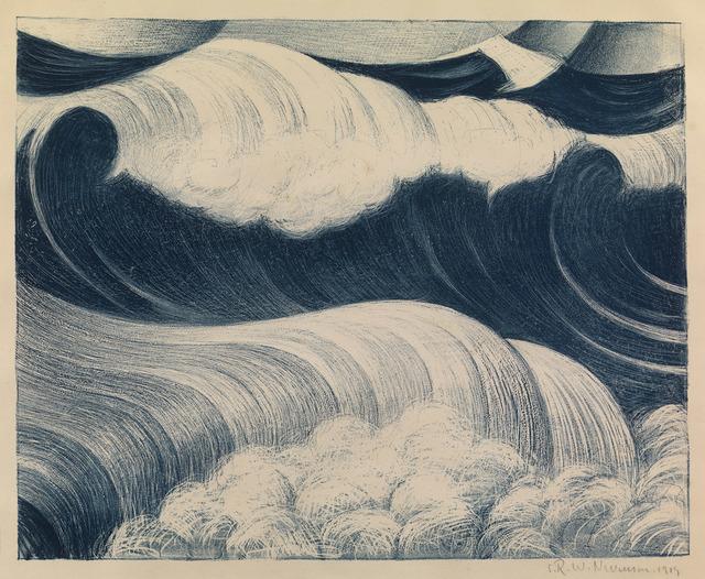 , 'The Blue Wave,' 1917, Osborne Samuel