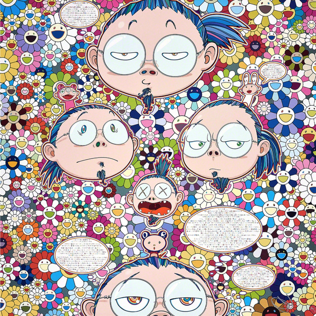 Takashi Murakami, 'Self-Portrait of the Manifold Worries of a Manifoldly Distressed Artist', 2017, Print, Offset litograph on paper, Fineart Oslo