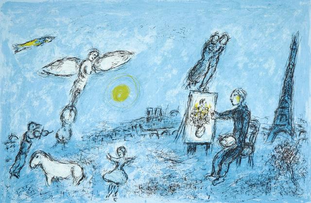 Marc Chagall, 'Le peintre et son double', 1981, Hans den Hollander Prints
