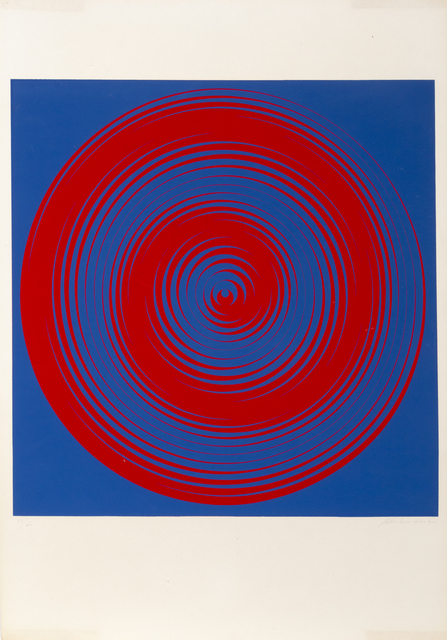 Getulio Alviani, 'Blue and Red Spirals', 1968, RoGallery