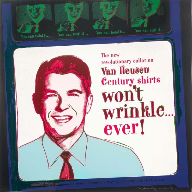 , 'Van Heusen (Ronald Reagan), from Ads FS II.356,' 1985, Gregg Shienbaum Fine Art