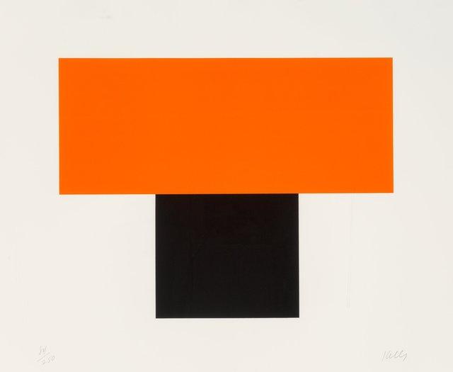 Ellsworth Kelly, 'Red-Orange over Black', 1970, Heritage Auctions