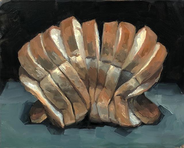 Tom Giesler, 'Study of Slices #3', 2019, Painting, Oil on panel, McVarish Gallery