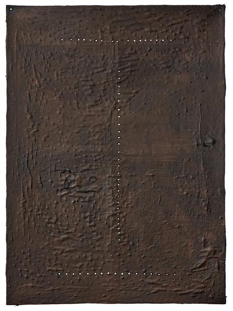 Alberto Casari, 'Camino indeciso de la hormiga', 2018, Other, Brea and perforations on canvas, Wu Galeria