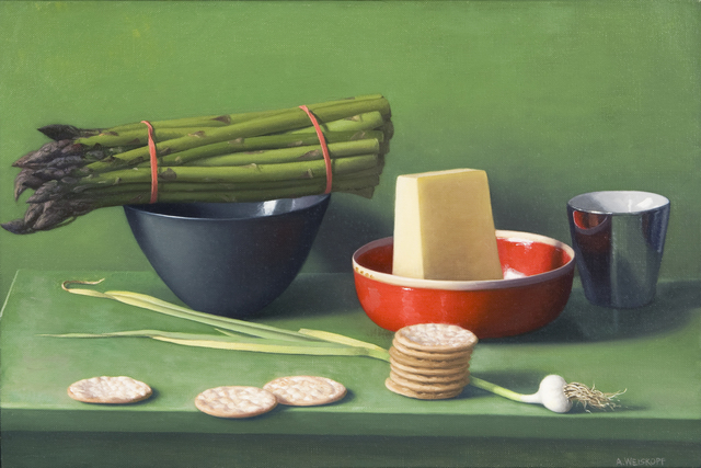 , 'Still Life with Asparagus, Pecorino and Crackers,' , Clark Gallery