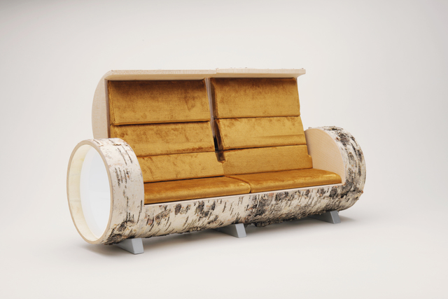 , 'Cloche Sofa birch 2  opening model,' , Galleria Ca' d'Oro