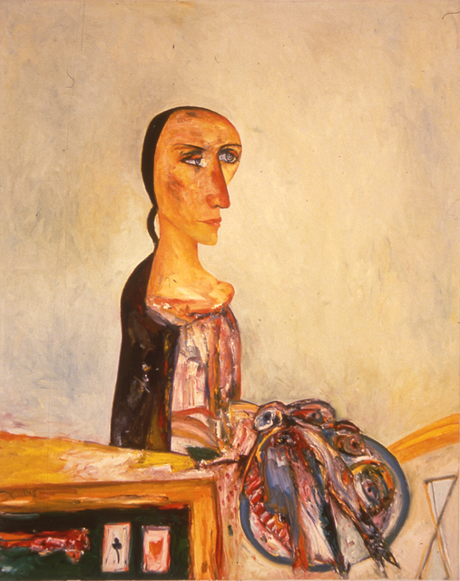 John Bellany R.A., 'The Scottish Widow', 1994, Flowers