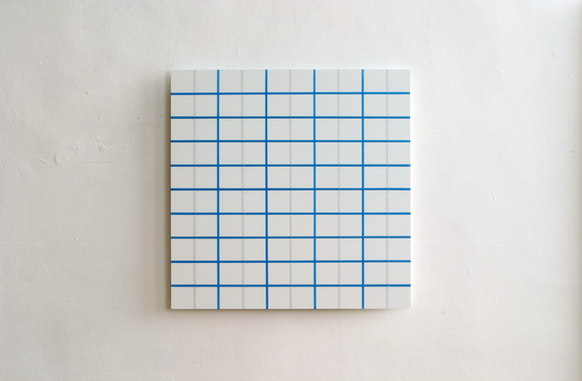 , 'Light Blue Square Grid,' 2006, Galerie Christian Lethert