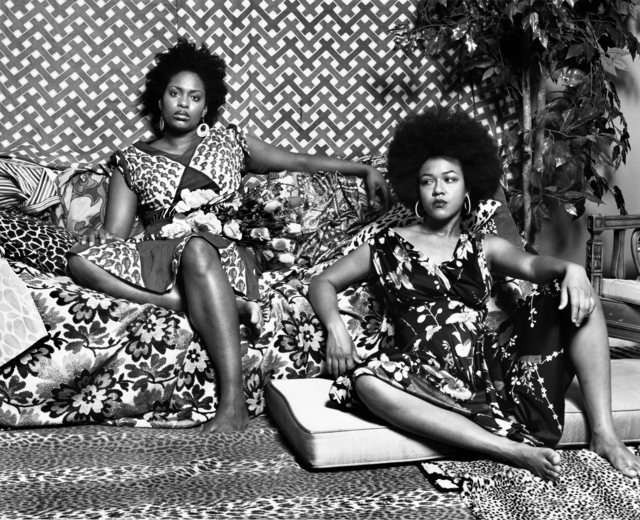 Mickalene Thomas, 'A Moment's Pleasure in Black and White', 2006-2008, Yancey Richardson Gallery