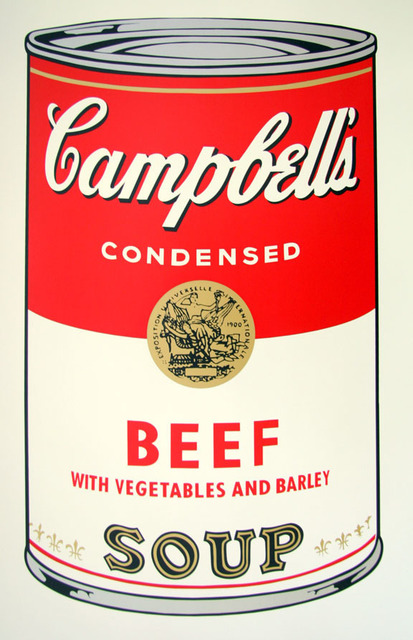 Andy Warhol, 'Campbell's Soup - Beef - Sunday B. Morning (After)', ARTEDIO